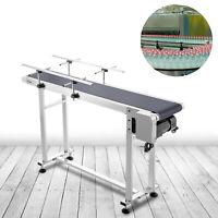 Belt Conveyor PVC Conveyor Belt47 x 7.8-Inch, Motorized Conveyor, w/ Guardrails