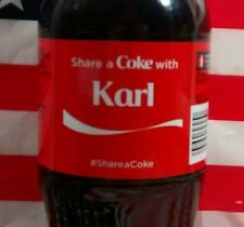 Share A Coke With Karl Limited Edition Coca Cola Bottle 2015 USA