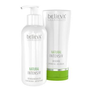 Believa Natural Intensiv Reinigungsmilch und Duschgel als Bundle