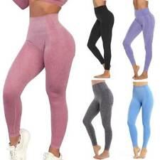 Womens High Waist Push Up Yoga Pants Gym Workout Seamless Leggings Fitness Sport