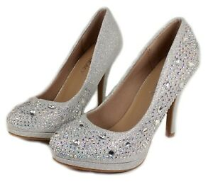 Cassie-72 Fashion Blink Pump Classics Party 4 inch High Heel Women Shoes Silver