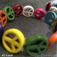 Retro Peace Symbol Colorful Flexible Bracelet Girl Kids Lady Jewelry JBRAC0801