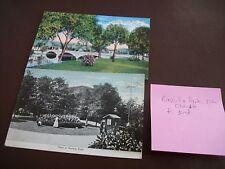 Vintage Ravinia Park Highland & Elkhart Ind - Postcard Lot (2) Linen