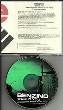 BENZINO & MARIO WINANS Would you AMENDED VERSION PROMO Radio DJ CD Single
