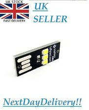 LUFFY Mini Portable USB Power 3 SMD LED Night Light Notebook Torch Camping White