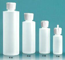 Plastic Cylinder FLIP TOP Refillable Bottle Pour Spout  --  FREE SHIPPING!