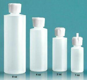 Plastic Cylinder FLIP TOP Refillable Bottle Pour Spout Medium Squeeze  FREE SHIP