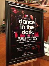 """BIG 10x13 FRAMED BRUCE SPRINGSTEEN """"IN NEWARK 1/31/16"""" CONCERT TOUR PROMO AD"""