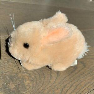 "Vintage 1983 Dakin Plush MINI Rabbit Bunny 5"" Beige / Tan Easter Korea"