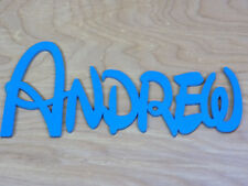 Blue DISNEY Wooden Name (Any Name) - LARGE size 20cm tall plaque board sign
