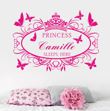 Personalized Name And Color Princess Girls Room Wall Stickers Vinyl Decal Decor