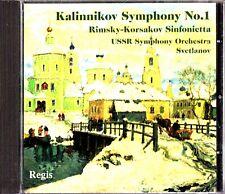 Kalinnikov Symphony 1 -USSR Symphony Orchestra CD -Svetlanov RARE