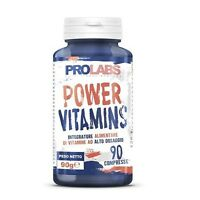 Prolabs Power Vitamins 90 cpr. Multivitaminico ad alto dosaggio. Vitamine