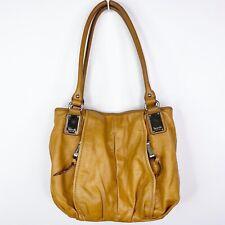 Tignanello Brown Leather Handbag Purse Tote Shoulder Bag