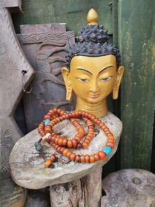 Old Tibetan Himalayan Copal Praying Mala