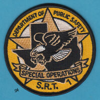 TEXAS RANGERS DEPARTMENT PUBLIC SAFETY SPECIAL OPS SRT POLICE SHOULDER PATCH