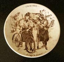 Rare Sarreguemines D. V Loin De Paris France Breakfast Dejeuner Plate