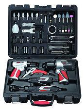 EXELAIR 44-Piece Professional Air Tool Kit-Impact,Grinder,Air Hammer,Ratchet+acc