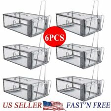 6 Pcs Live Humane Cage Trap for Squirrel Chipmunk Rat Mice Rodent Animal Catcher