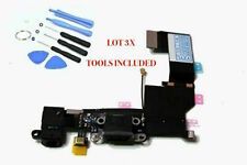 5 X USB Charging Port Flex Cable Headphone Audio Dock For iPhone 5S With Tools