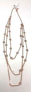 Tory Burch Women's Multi Strand Logo Necklace - Rose Gold