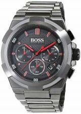 New Hugo Boss HB1513361 Super-Nova Silver Black Dial Men Watch