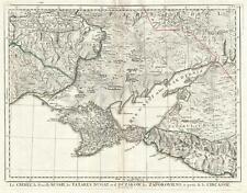 1777 Santini Map of the Crimean Peninsula and Ukraine
