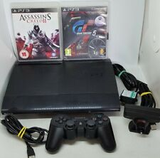 PS3 Super Slim 12GB  with 60gb upgrade Console Game Bundle  + 2 Great Games