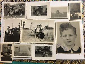 Lotto 10 Fotografie Vintage Anni '40 Bianco E Nero