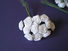 "8008 Paper rosebuds 1/2 "" white 16 bunches of 12 and 1 bunch of 12 larger LOT"