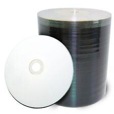 100 pcs 16x White Inkjet HUB Printable Blank DVD-R Media Disc Shrink Wrapped
