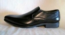 Black Leather Loafers Hush Puppies Carter Maddow Men's US Size 8 Wide