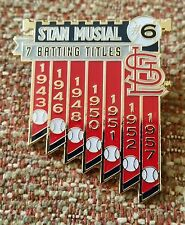 STAN MUSIAL 7 BATTING TITLES Lapel Pin St. Louis Cardinals