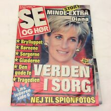"Princess Diana Death Lady Di Photos Vintage Danish Magazine 1997 ""Se og Hoer"""