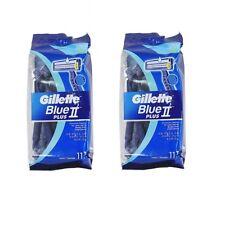 22pcs Gillette Blue II Plus Rasierer für Männer 2 Stück Einweg Rasierer