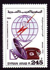 Siria Syria 1984 ** mi.1600 messaggio a distanza Telecommunication TELEFONO PHONE [sy339]