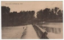 SUPERIOR NEBRASKA PC Postcard THE DAM Nuckolls County RIVER Nebr NE Midwest