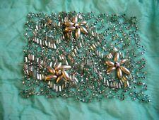 Handmade Antique Vintage Beadwork Sequin Green Applique Piece - 1920's ?