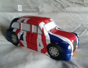 Collectable Tin. London Union Jack Taxi with tea-bags. Boxed.