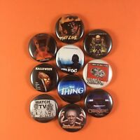 """John Carpenter """" Button Pin Lot Set #2 Halloween The Thing The Fog They Live"""