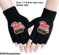 Riverdale Print Warm Half Finger Gloves Boys Girls Black Knitted Mittens Gifts