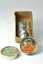 Vintage Hand Held Dexterity Puzzle Penny Toy Game Glass Set of Six (6) Germany