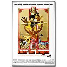 Introduce el Dragón Bruce Lee Película cartel de seda 12x18 24x36 pulgadas