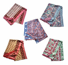 Indian Lot Of 5 Cotton Hand Block Print Pareo Bikini Beach Wear Cover Up Sarong