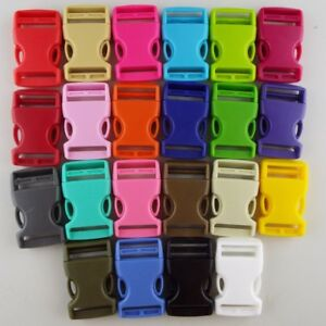 22 COLOUR 25mm Plastic Side Release Clip Buckle Webbing Bag Strap Buy 1 2 4 or 8