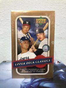 2005  UPPER DECK Classics MLB Baseball Trading Cards BOX NEW
