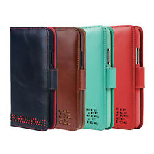 iPhone XS Max Leather Wallet Case - For Right Handers - Premium Genuine Leather