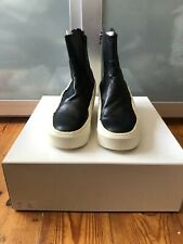 Super cool ultra rare Julius 7 Sculpted Heel leather Ankle Boots Sz 2 / 42
