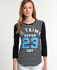 New Womens Superdry Je T'aime Top Eclipse Navy