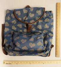 Candies Blue Back Pack Heart Shaped Roses Bag Purse Ladies BackPack - FLASH SALE